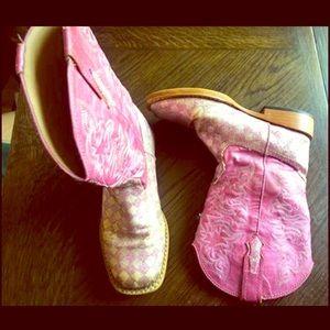 Roper Girls sz 13 pink glitter cowgirl boots